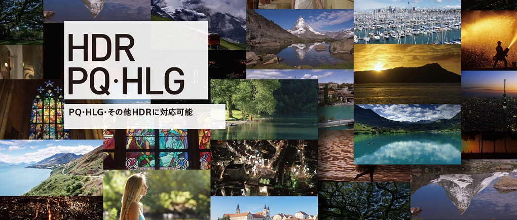 HDR PQ・HLG PQ・HLG・その他HDRに対応可能